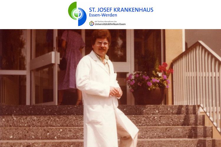 O Dr. med. Β. Παυλιδέλης, επιμελητής στο Καθολικό Νοσοκομείο του Essen - Werden, Δυτ. Γερμανίας.