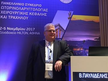 """""""Ωτοπλαστική"""" ήταν το θέμα της ομιλίας του Dr. med. B. Παυλιδέλη, στο Συνέδριο της Πανελλήνιας ΩΡΛ Εταιρείας, Hilton, Aθήνα, 2-5 Νοεμβρίου 2017."""
